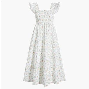 Hill House White Trellis Nap Dress Size M